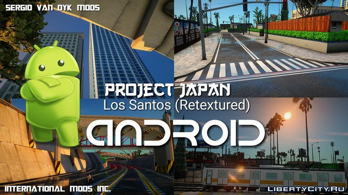 Texture mod Project Japan (retexture) for GTA San Andreas (iOS, Android)