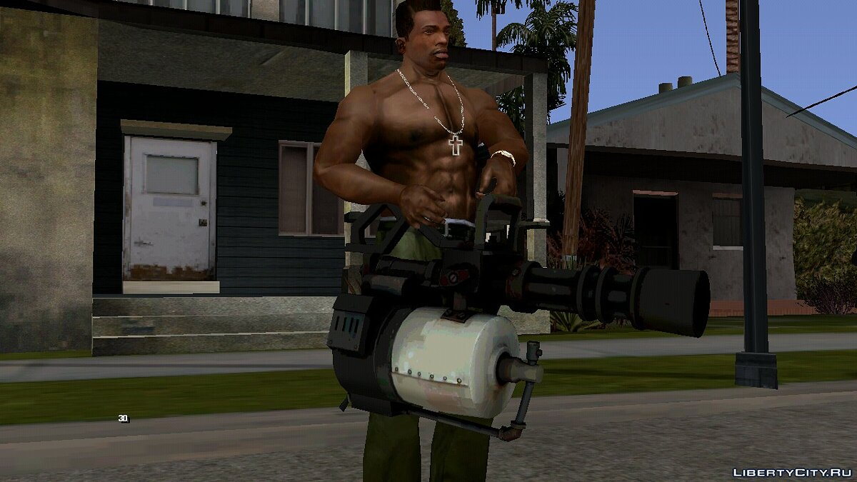 Weapon mod Minigun from Team Fortress 2 for GTA San Andreas (iOS, Android)