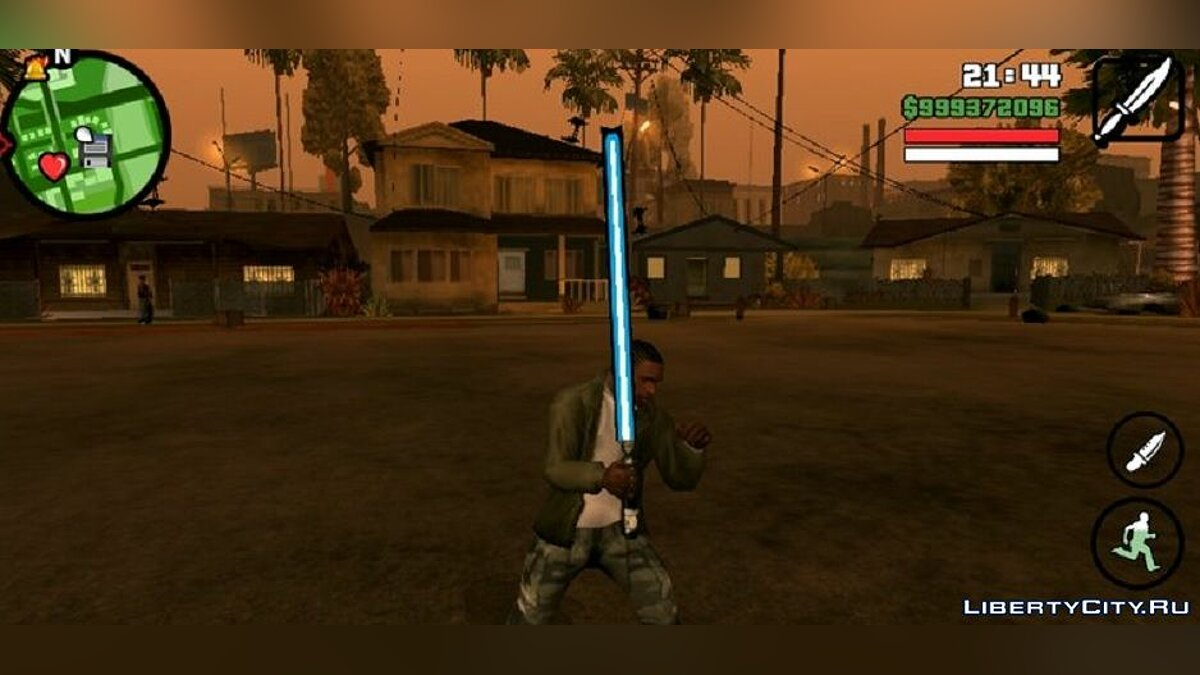Weapon mod Lightsaber for GTA San Andreas (iOS, Android)