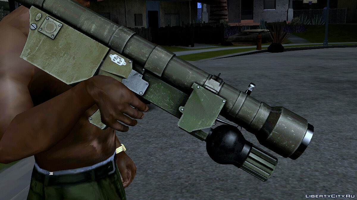 Weapon mod Improved heat-seeking grenade launcher for GTA San Andreas (iOS, Android)
