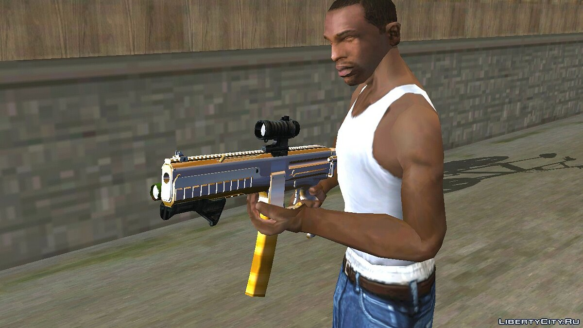 Weapon mod GTA V CombatPDW (DFF only) for GTA San Andreas (iOS, Android)