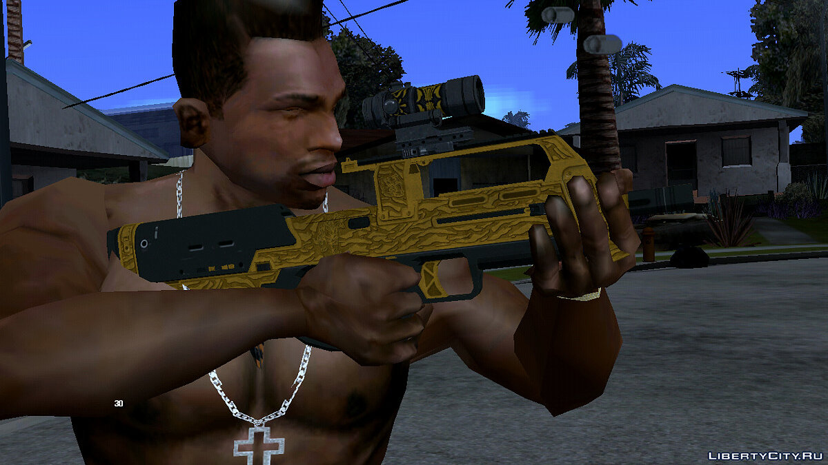Weapon mod A collection of weapons from GTA Online for GTA San Andreas (iOS, Android)