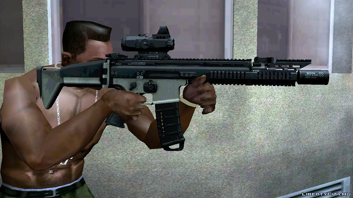 Weapon mod SCAR MK16 for GTA San Andreas (iOS, Android)