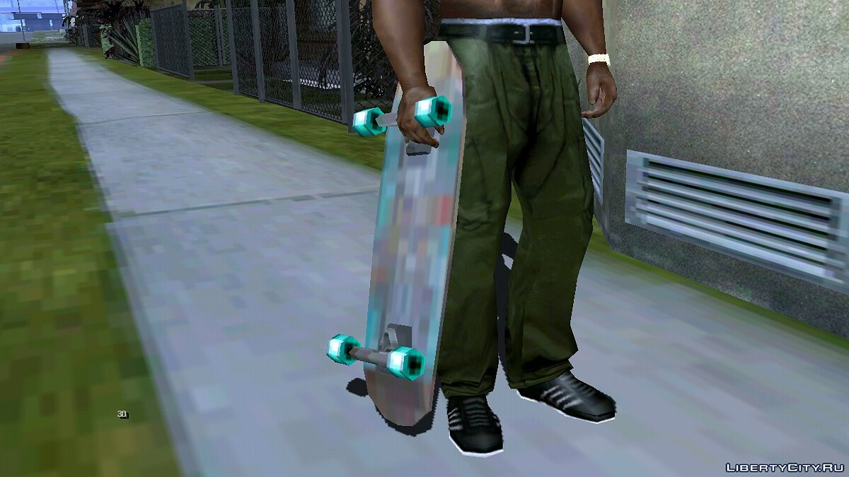 Weapon mod Skateboard (DFF only) for GTA San Andreas (iOS, Android)