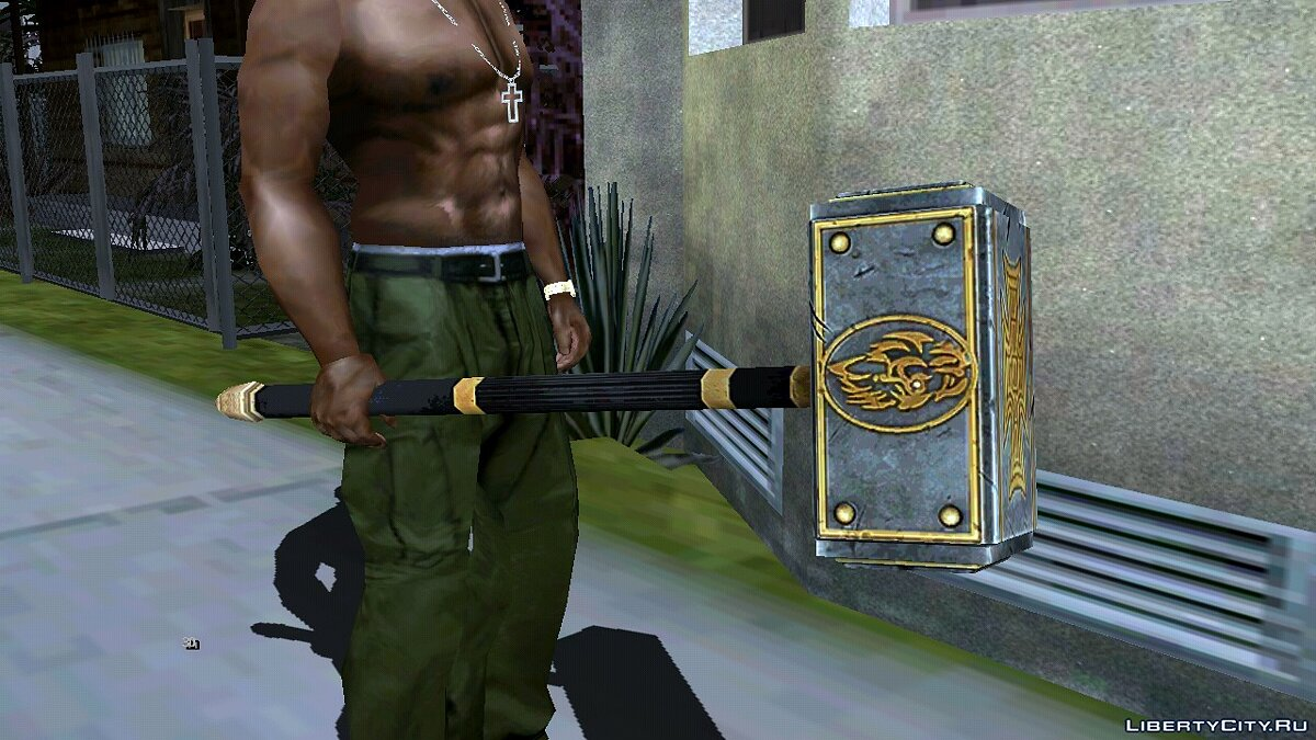Weapon mod WWE Immortals Triple-H Hammer for GTA San Andreas (iOS, Android)