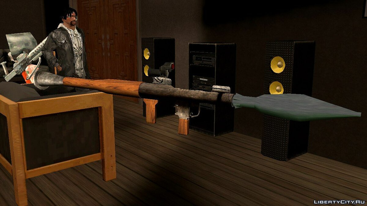 Weapon mod RPG-7 (DFF only) for GTA San Andreas (iOS, Android)
