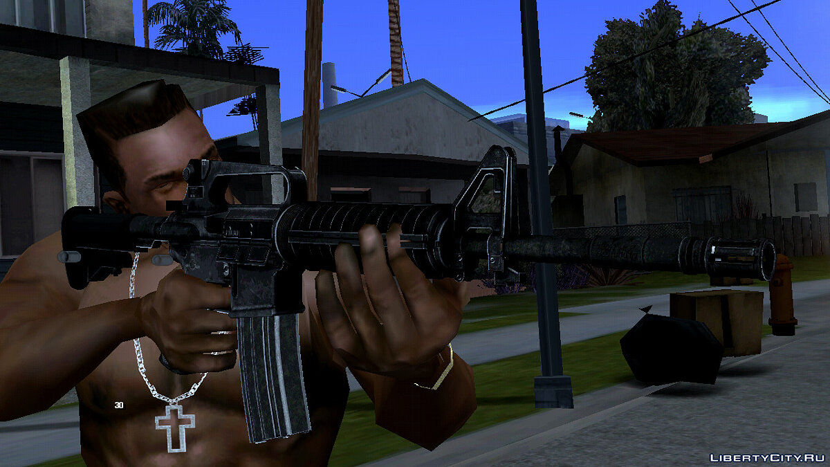 Weapon mod A quality M4 rifle for GTA San Andreas (iOS, Android)