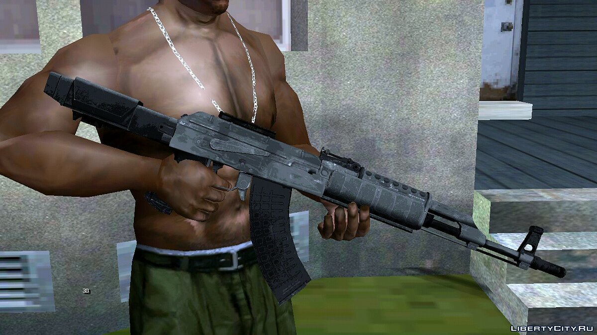 Weapon mod AK-47 Modern for GTA San Andreas (iOS, Android)