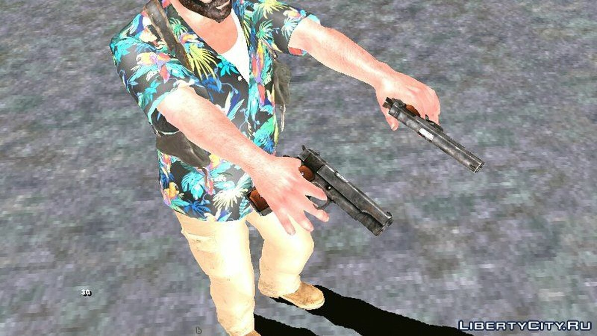 Weapon mod Pak weapons from Max Payne 3 for GTA San Andreas (iOS, Android)