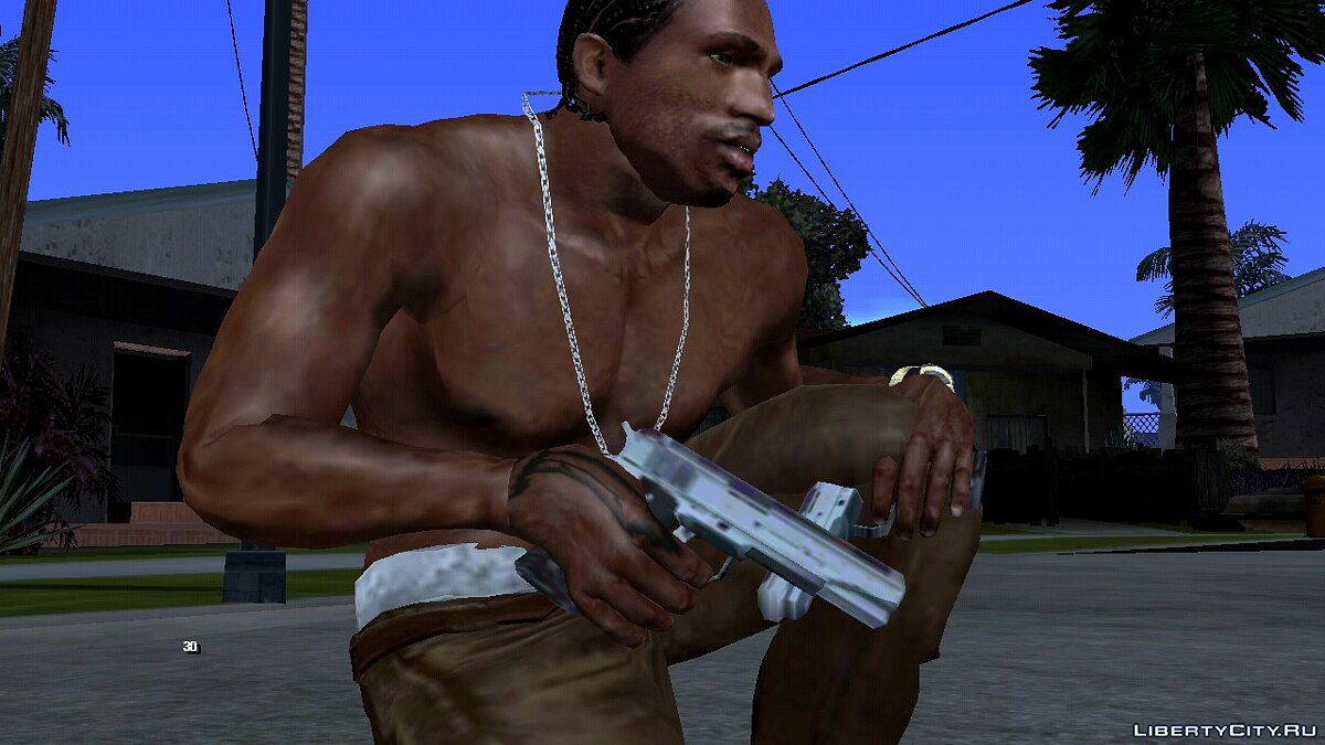Weapon mod New textures for Colt 45 for GTA San Andreas (iOS, Android)