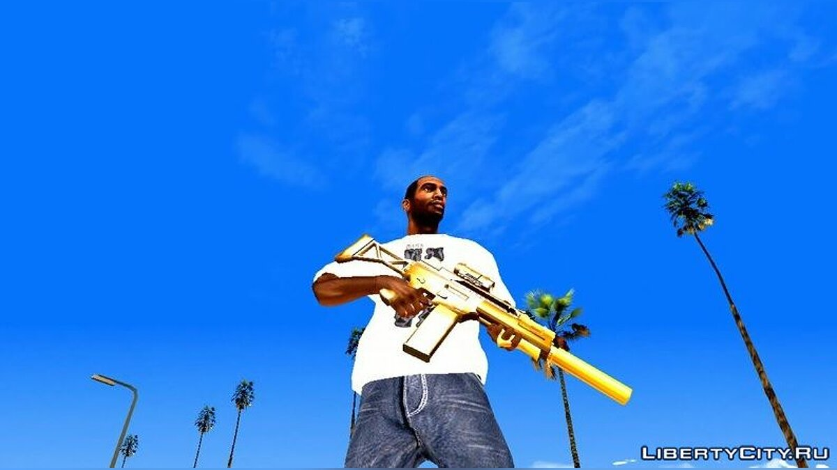 Weapon mod Collection of weapons from GTA 5 (DFF only) for GTA San Andreas (iOS, Android)