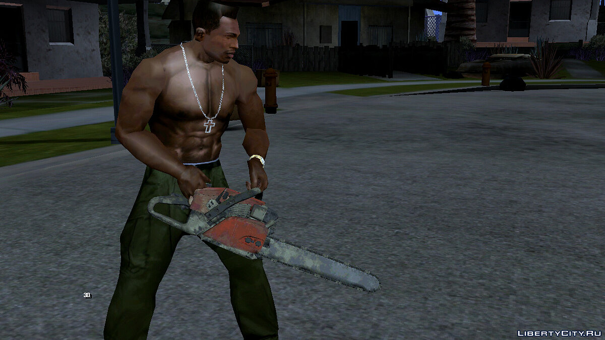 Weapon mod Improved Chainsaw for GTA San Andreas (iOS, Android)