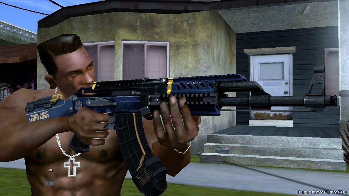Weapon mod AK-47 from Sudden Attack 2 for GTA San Andreas (iOS, Android)