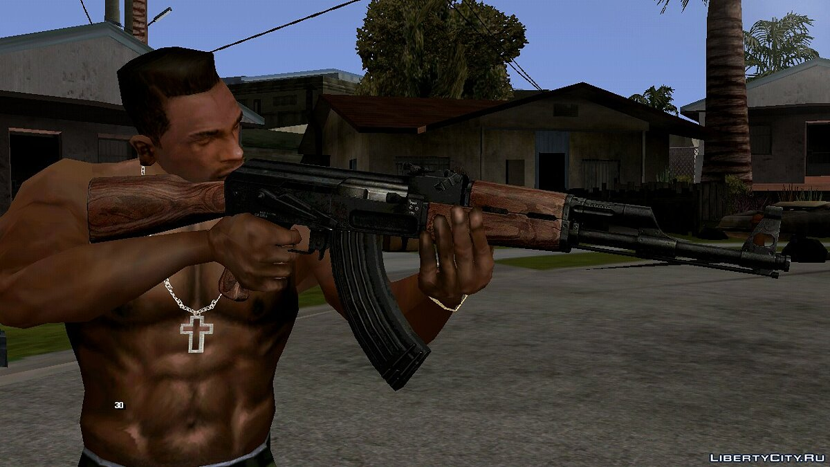Weapon mod AK-47 for GTA San Andreas (iOS, Android)