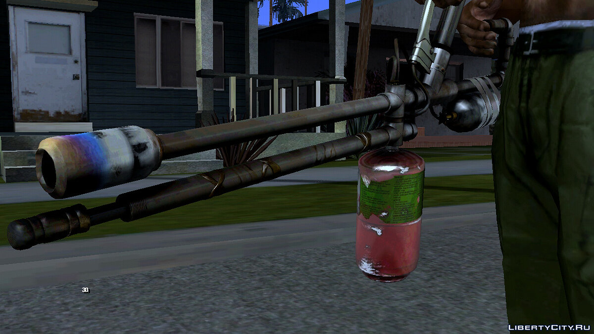 Weapon mod A quality flamethrower for GTA San Andreas (iOS, Android)