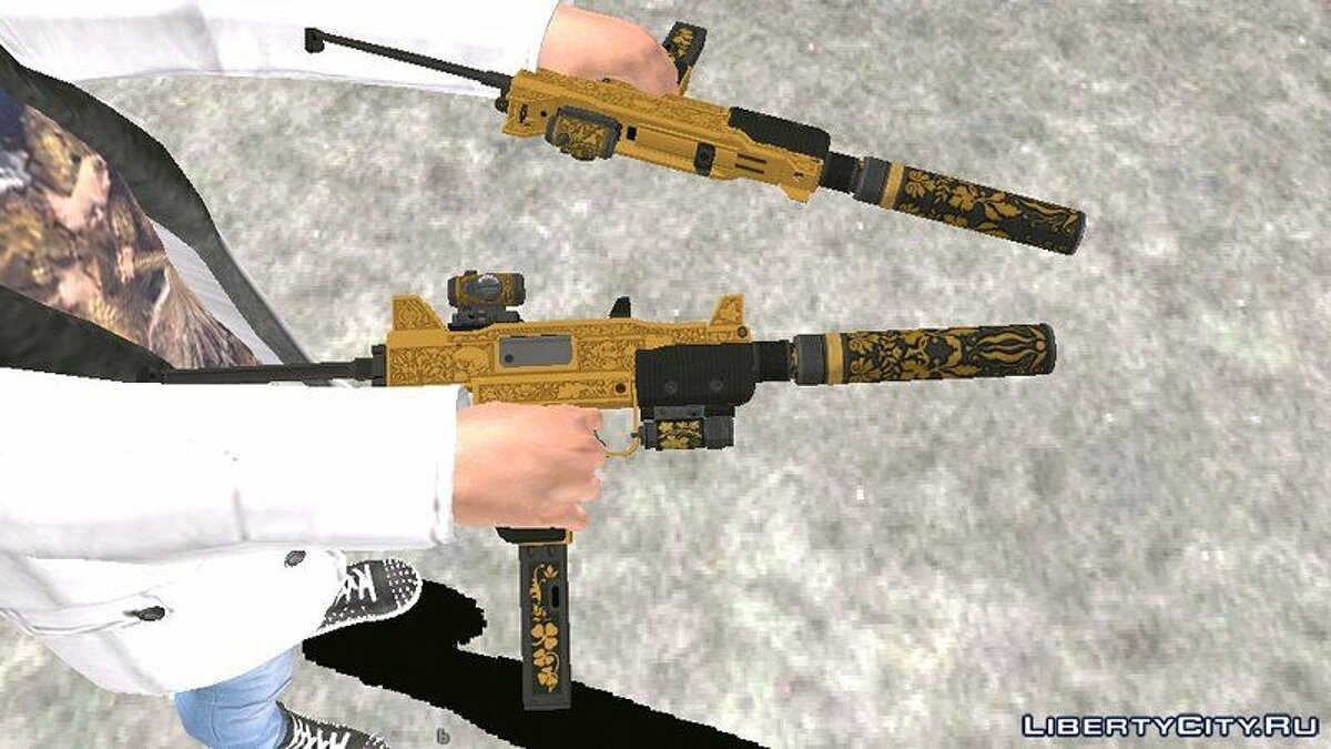 Weapon mod A set of weapons from GTA Online for GTA San Andreas (iOS, Android)