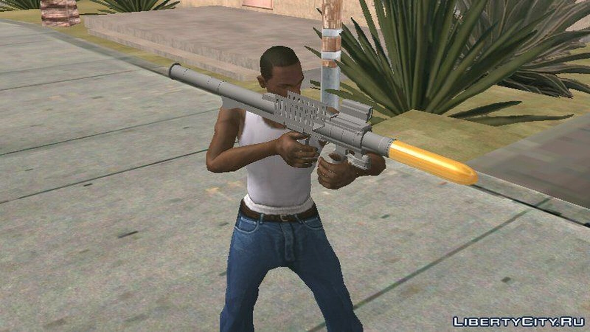 Weapon mod GTA V Rocket Launcher for GTA San Andreas (iOS, Android)