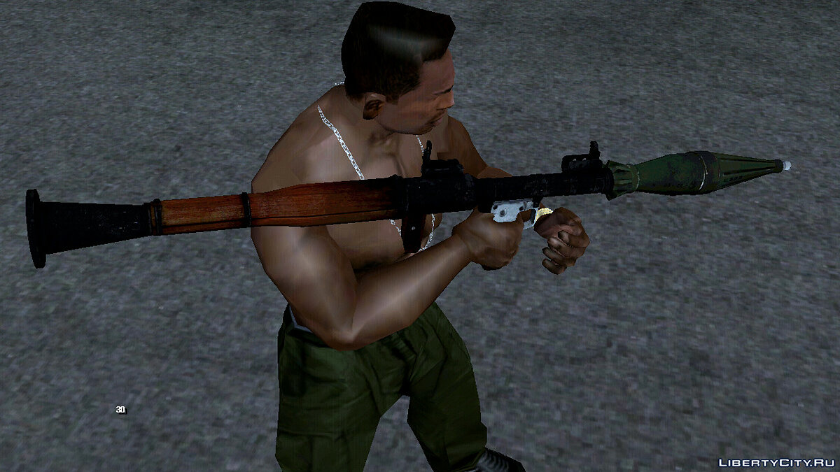 Weapon mod High-quality RPG-7 for GTA San Andreas (iOS, Android)