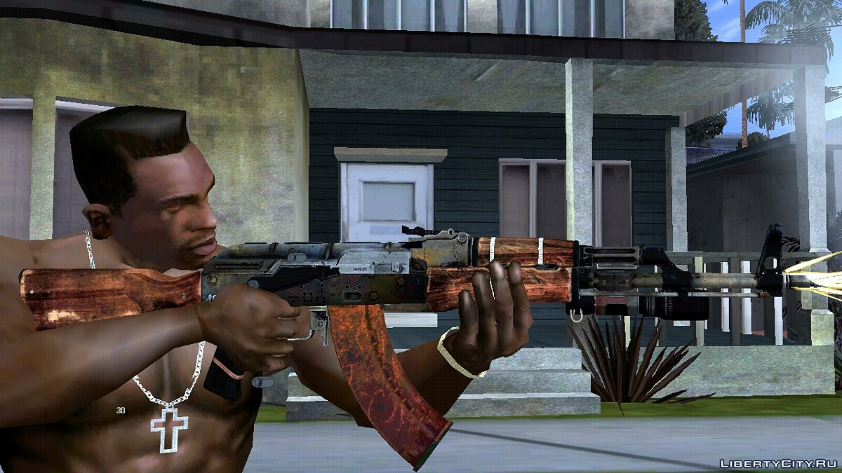 Weapon mod AKM from Sniper Ghost Warrior 3 for GTA San Andreas (iOS, Android)