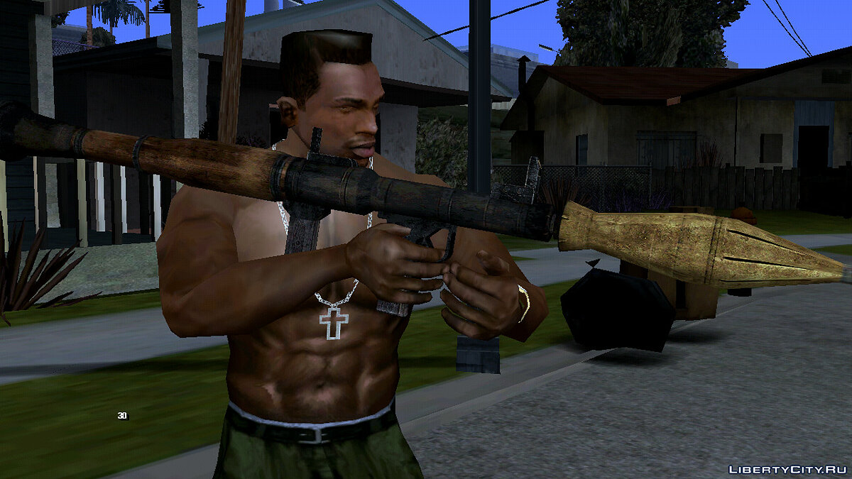 Weapon mod RPG-7 for GTA San Andreas (iOS, Android)