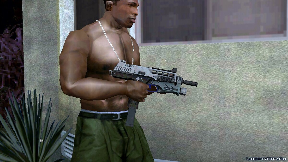 Weapon mod MP-970 for GTA San Andreas (iOS, Android)