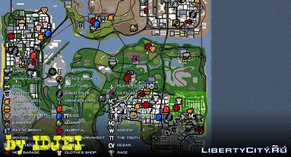 Full map icons for GTA San Andreas (iOS, Android)