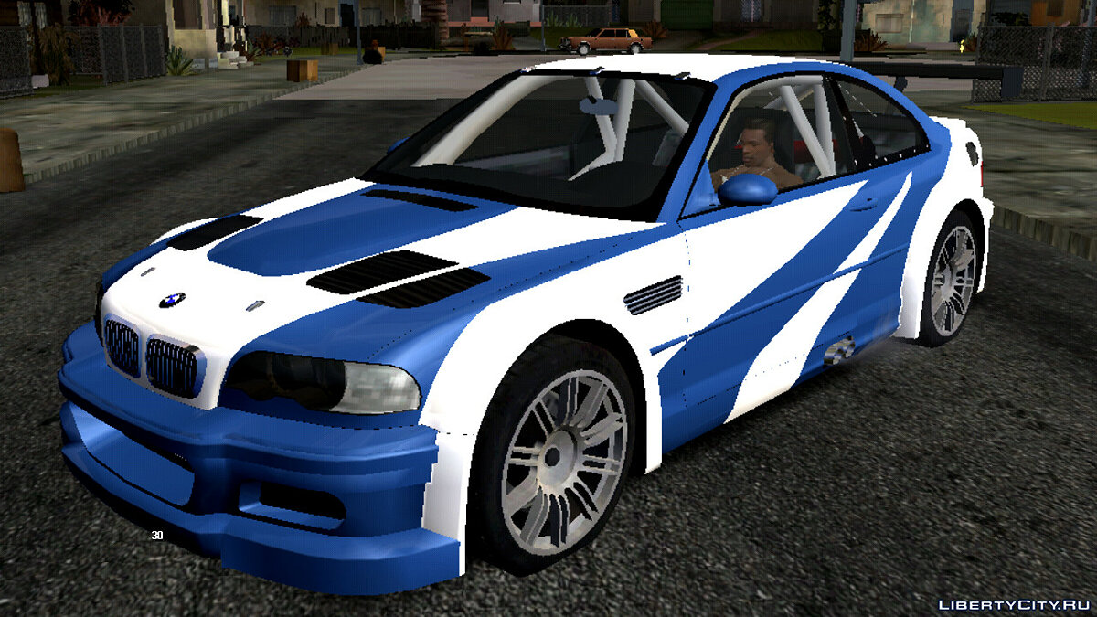 Mod Sounds of the BMW M3 GTR car for GTA San Andreas (iOS, Android)