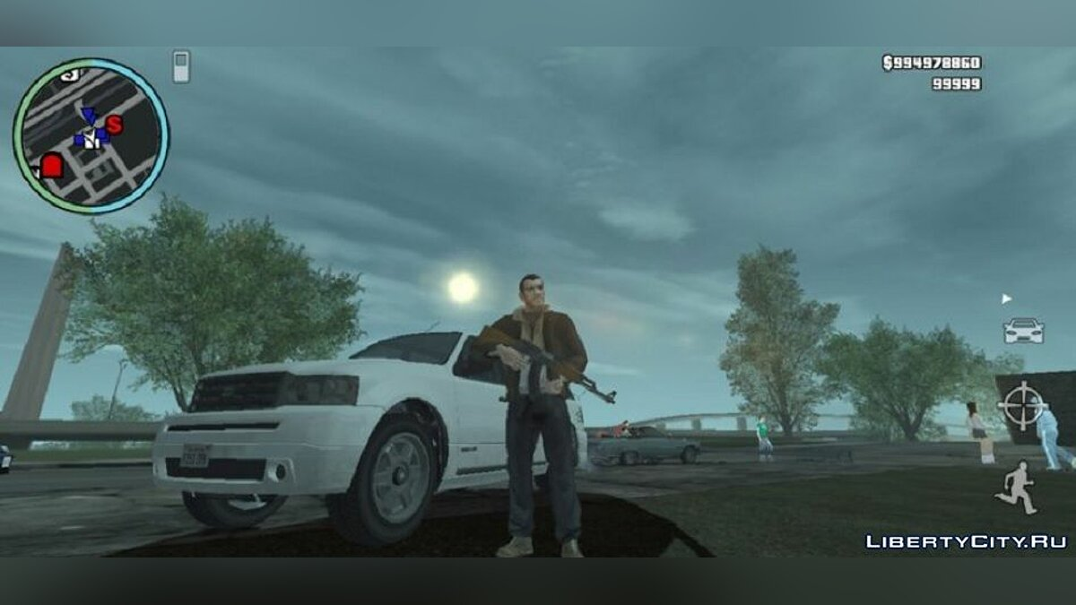 Mod Graphics in the style of GTA 4 for GTA San Andreas (iOS, Android)