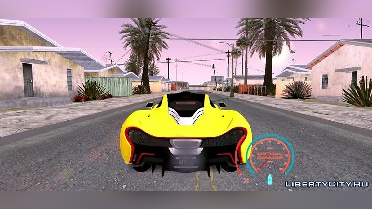 Mod Speedometer from the game Need For Speed for GTA San Andreas (iOS, Android)