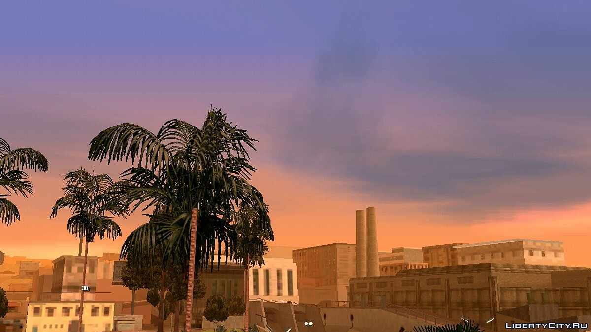 Mod Realistic weather (Timecyc) for GTA San Andreas (iOS, Android)