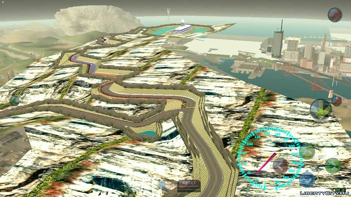 Mod Huge drift track for the whole map for GTA San Andreas (iOS, Android)
