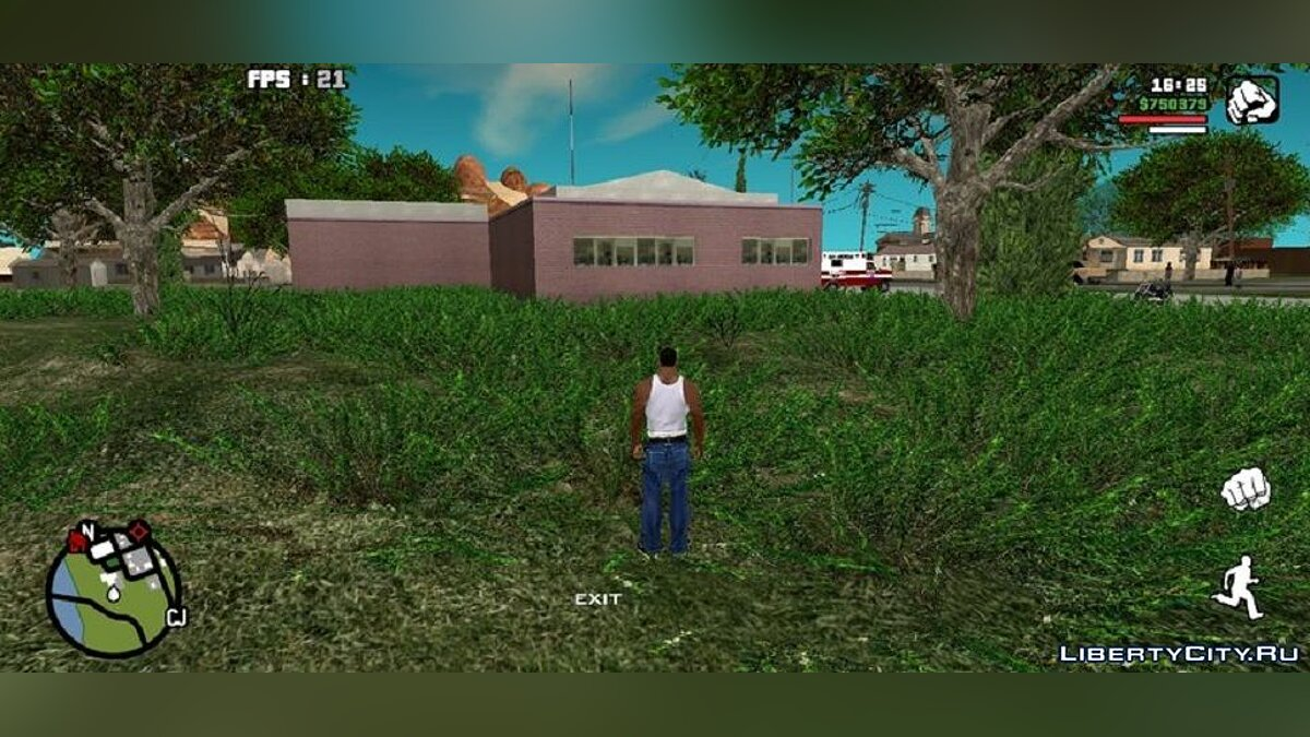 Mod Vegetation from GTA 5 for GTA San Andreas (iOS, Android)