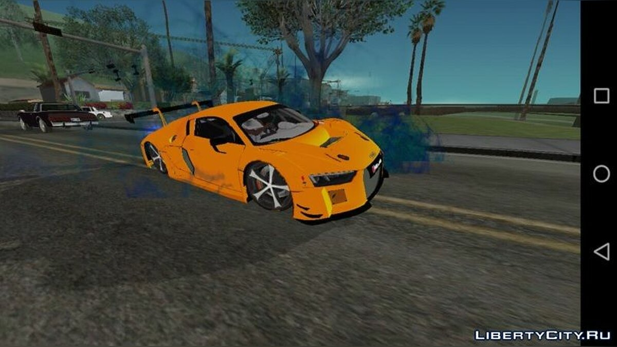 Mod New smoke from under the wheels for GTA San Andreas (iOS, Android)