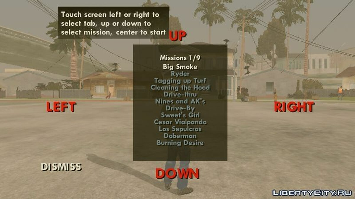 Mission Selector for GTA San Andreas (iOS, Android)