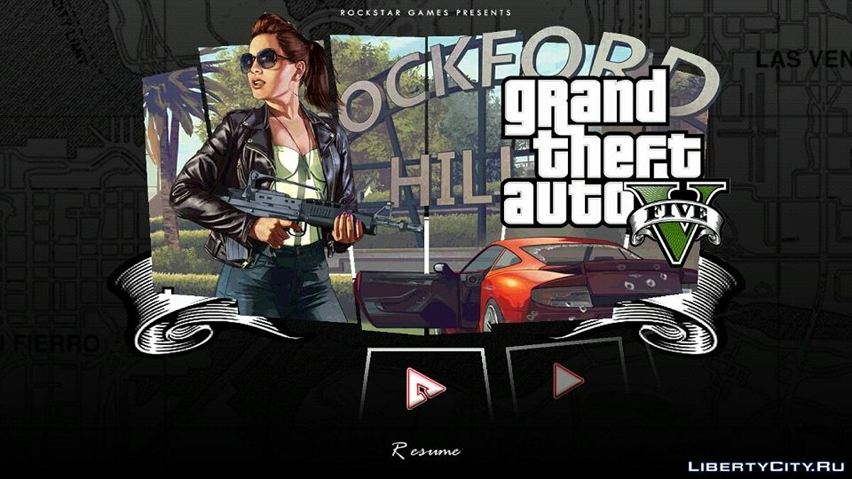 Mod Menu in the style of GTA 4 and GTA 5 for GTA San Andreas (iOS, Android)