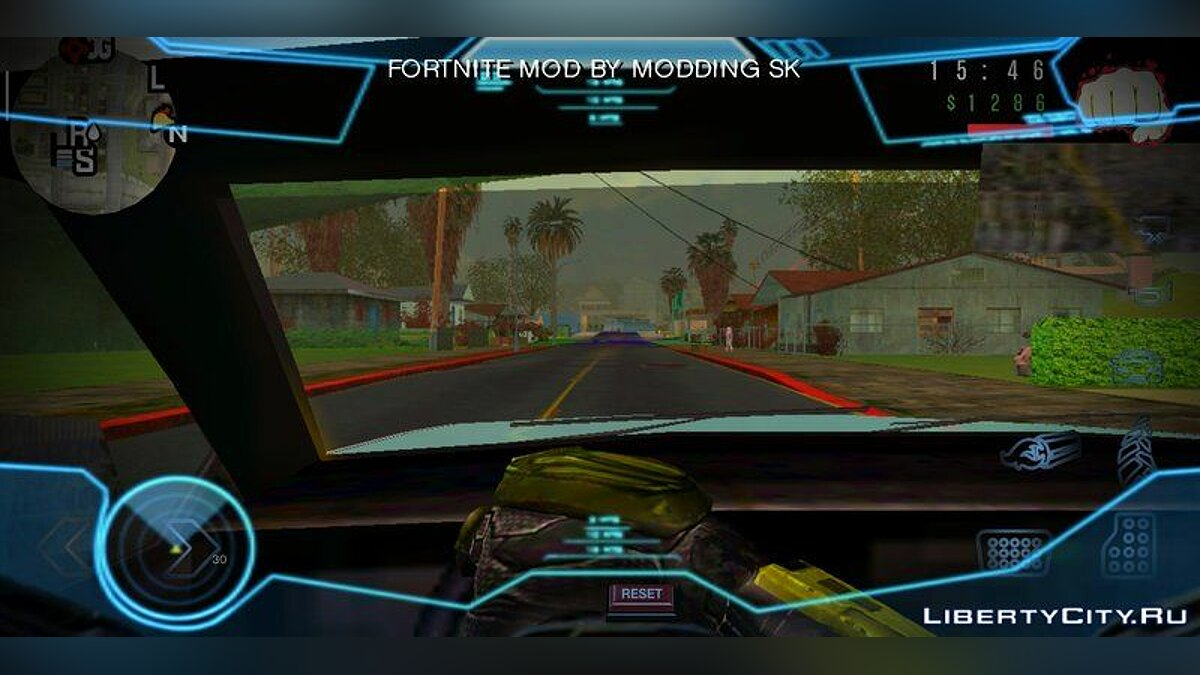 Mod Halo vignette hud for GTA San Andreas (iOS, Android)
