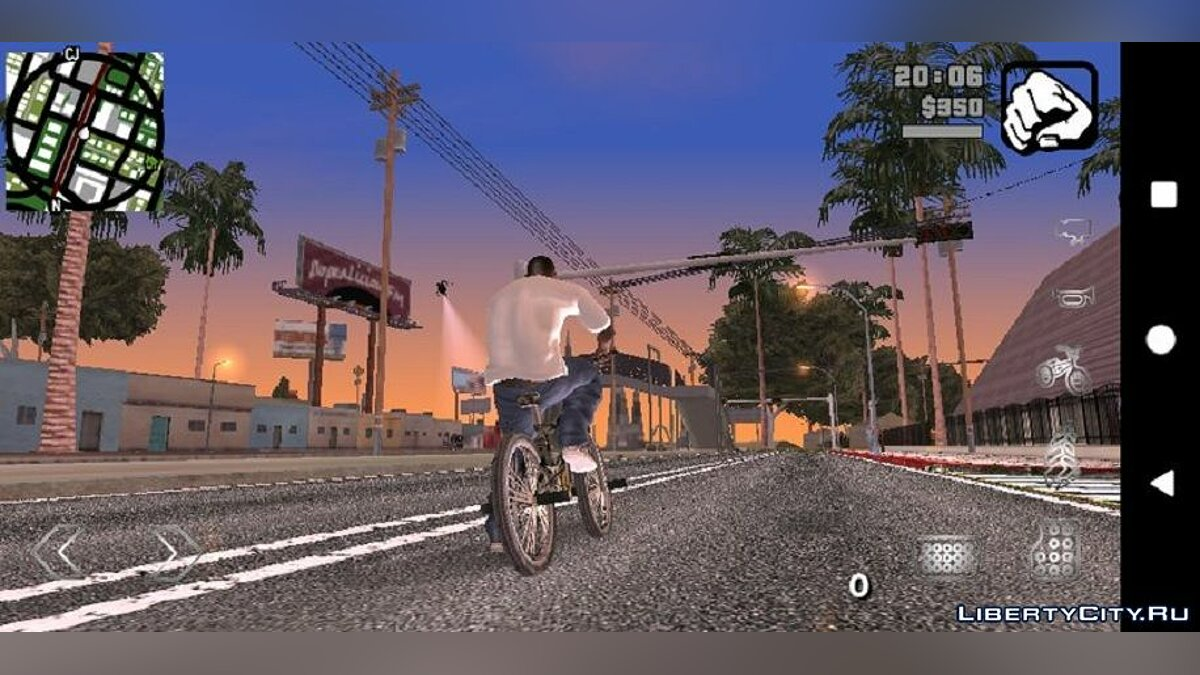 Mod Graphics in the style of GTA 5 for GTA San Andreas (iOS, Android)