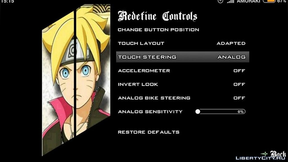 Mod Menu and boot screen for anime