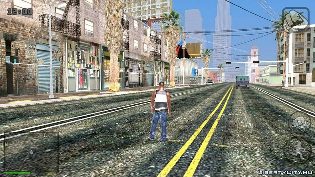 Mod HD графика for GTA San Andreas (iOS, Android)