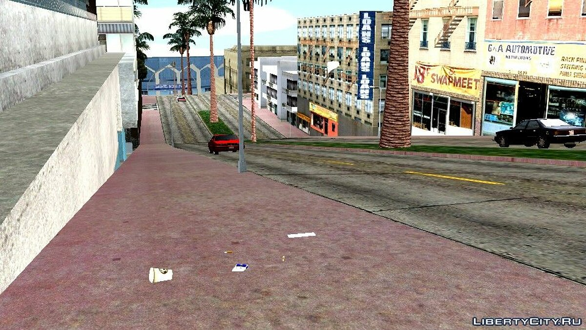 Mod Newspapers and trash on the road for GTA San Andreas (iOS, Android)