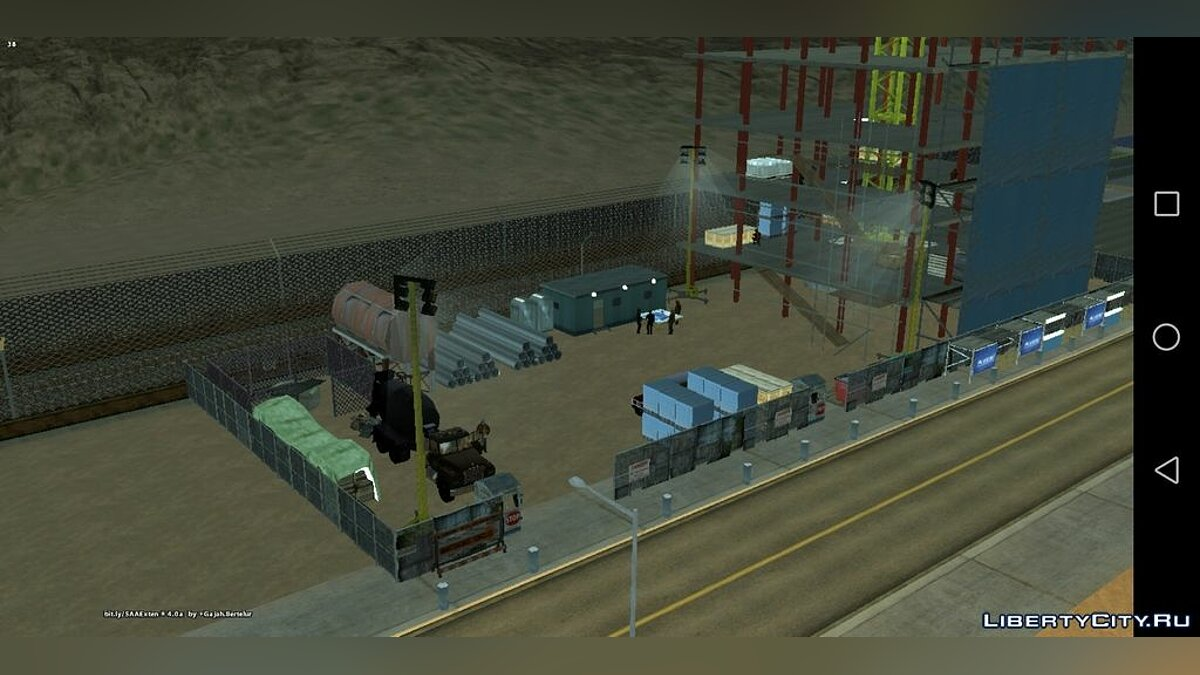 Mod Construction site for GTA San Andreas (iOS, Android)