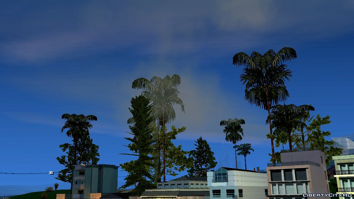 Mod Clouds for weak devices for GTA San Andreas (iOS, Android)