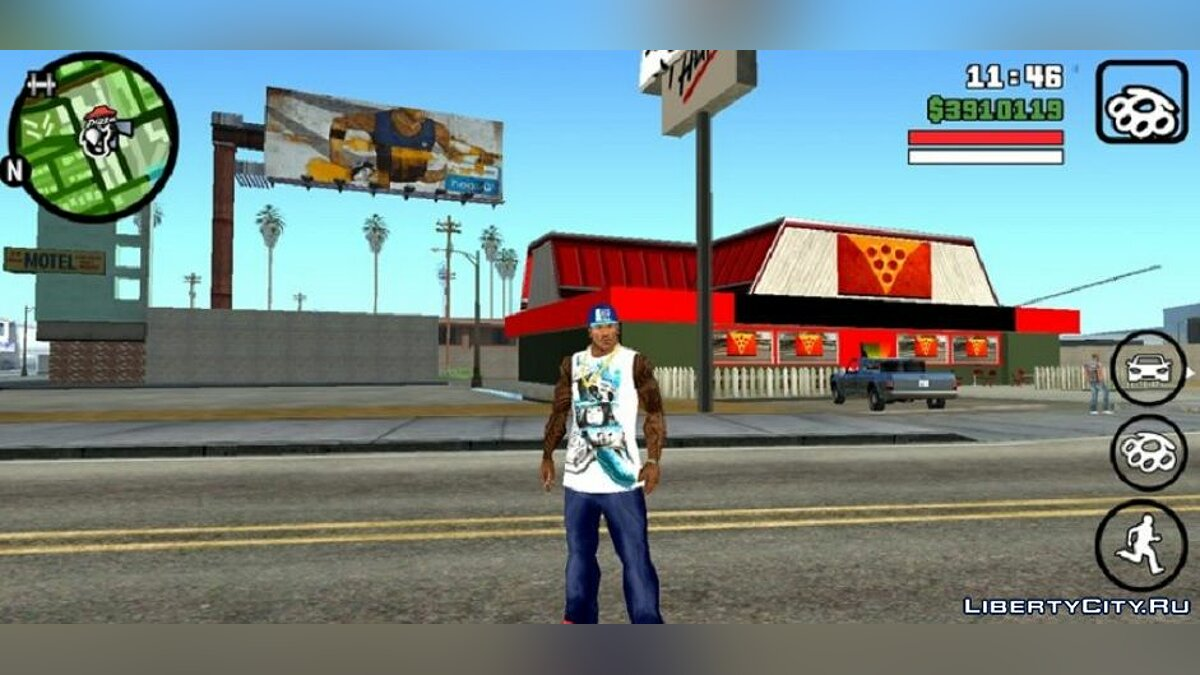 Mod New face and clothes for Cj v3 for GTA San Andreas (iOS, Android)