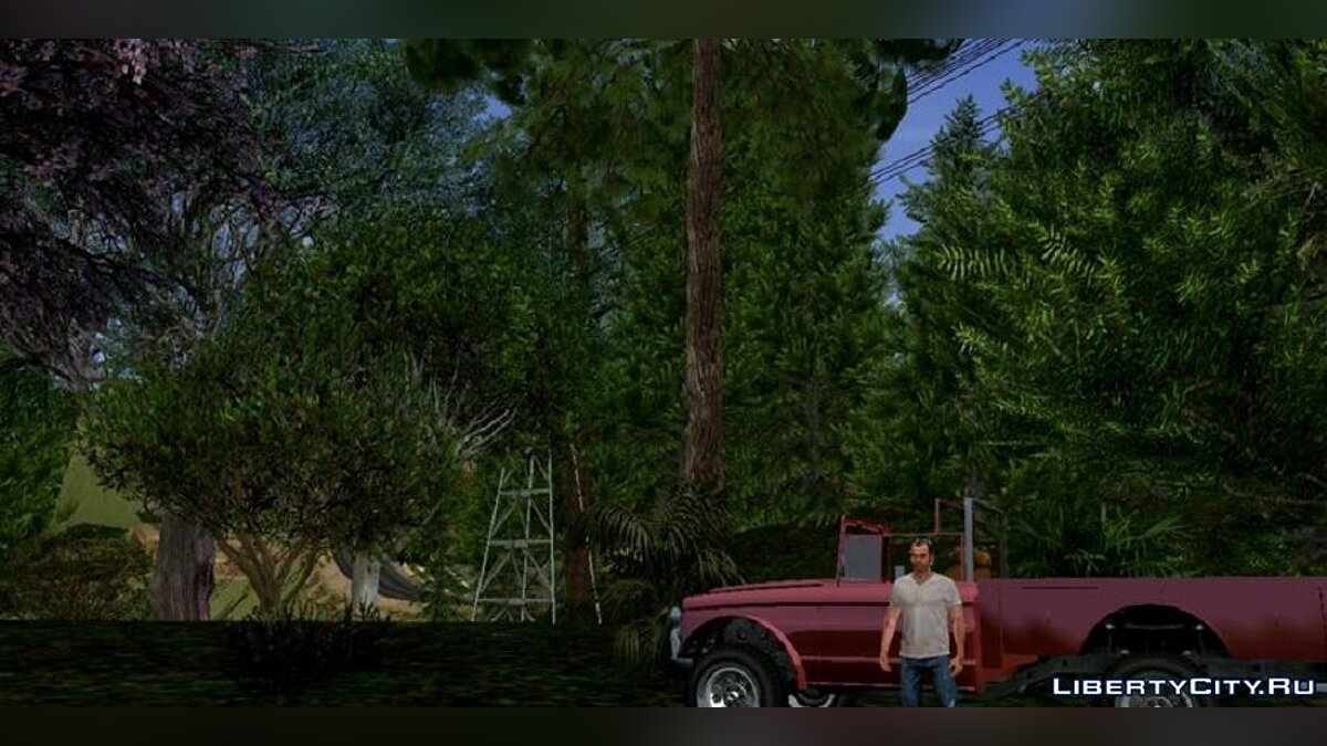 Mod Realistic forest in the style of GTA 5 for GTA San Andreas (iOS, Android)