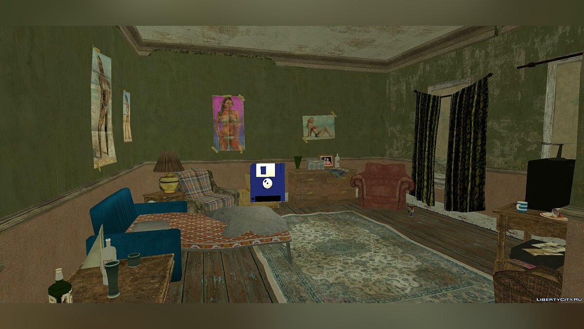 Mod Roman's apartment from GTA 4 for GTA San Andreas (iOS, Android)