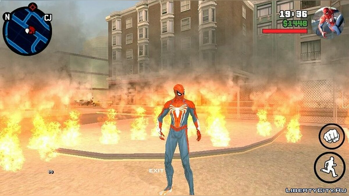 Mod Radar from Spiderman for PS4 for GTA San Andreas (iOS, Android)