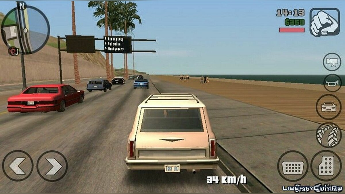 Mod Extreme traffic increase for GTA San Andreas (iOS, Android)