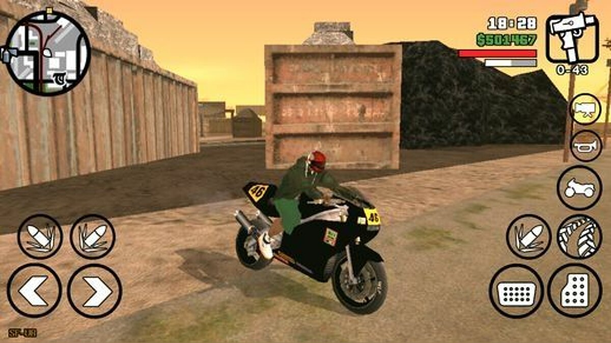 Automatic Motorcycle Helmet for Android for GTA San Andreas (iOS, Android)