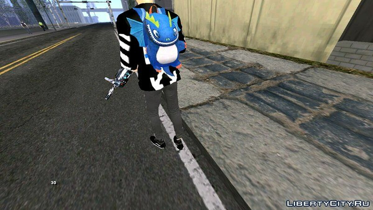 Mod Cute dragon backpack for GTA San Andreas (iOS, Android)