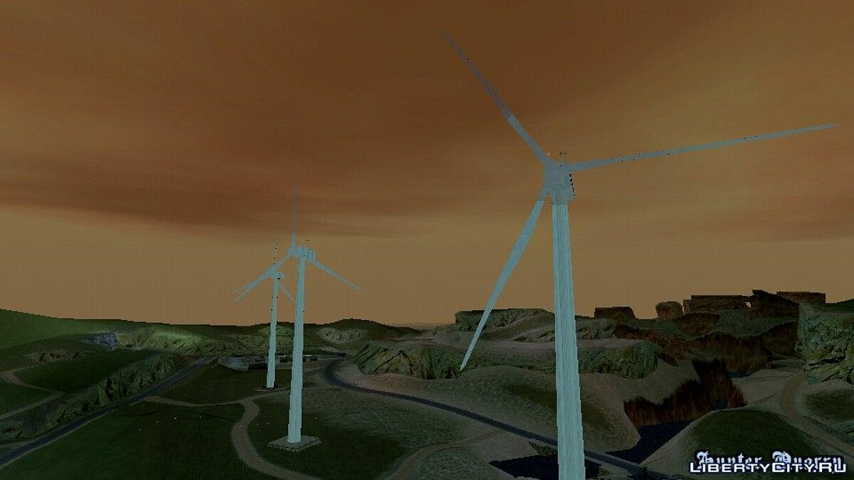 Mod Mod windmills for GTA San Andreas (iOS, Android)